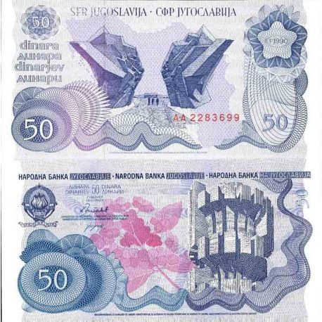 Billet de banque collection Yougoslavie - PK N° 101 - 50 Dinara