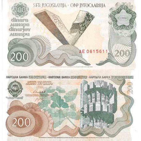 Billet de banque collection Yougoslavie - PK N° 102 - 200 Dinara