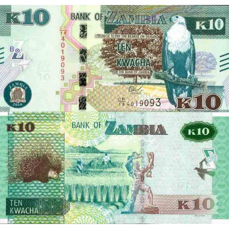 Billet de banque collection Zambie - PK N° 58 - 10 Kwacha