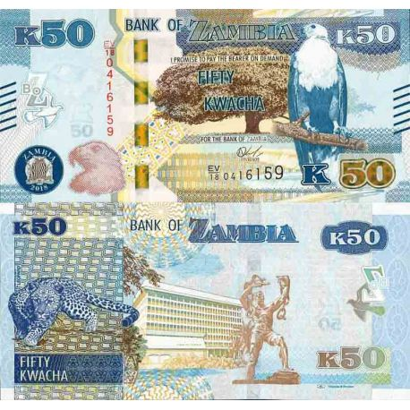 Billet de banque collection Zambie - PK N° 60 - 50 Kwacha