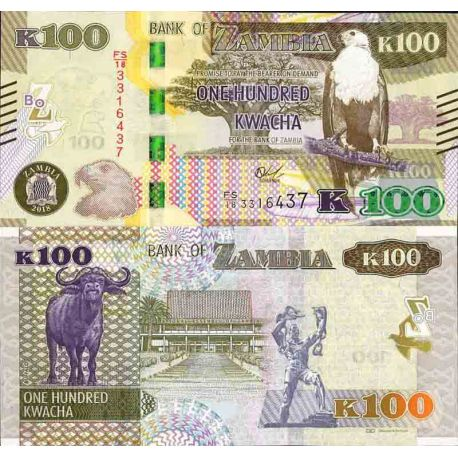 Billet de banque collection Zambie - PK N° 61 - 100 Kwacha