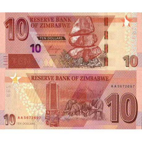 Billet de banque collection Zimbabwe - PK N° 999 - 10 Dollars