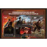 Bloc de 4 timbres Chaplin