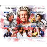 Bloc de 5 timbres Elisabeth II