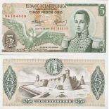 Billet de banque Colombie Pk N° 406 - 5 Pesos