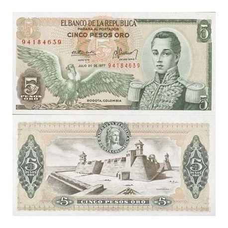 Colombia - Pk # 406 - Ticket 5 Pesos