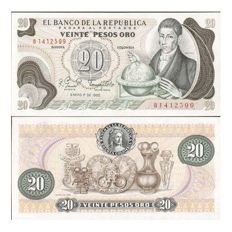 Colombia - Pk # 409 - Ticket 20 Pesos