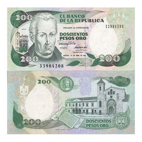 Colombie - Pk N° 429 - Billet de 200 Pesos