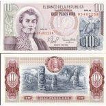 Banconote Colombia Pick numero 407 - 10 Peso 1961