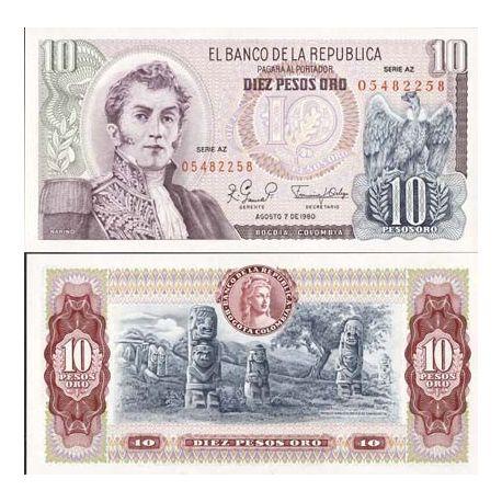Colombie - Pk N° 407 - Billet de 10 Pesos