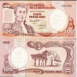 Banknote collection Colombia Pick number 426 - 100 Peso 1982