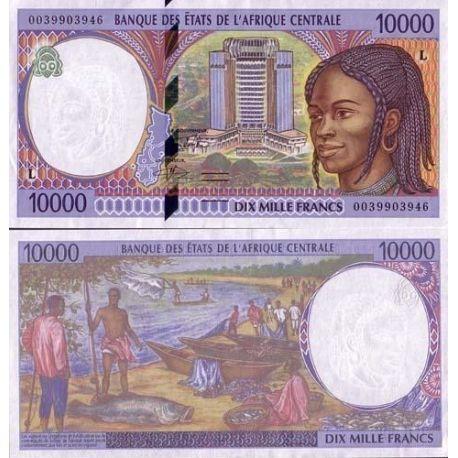 Afrique Centrale Gabon - Pk N° 405 - Billet de 10000 Francs