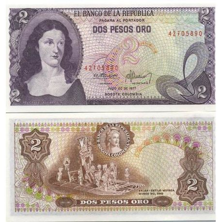 Billets de collection Billets collection Colombie Pk N° 413 - 2 Pesos Billets de Colombie 7,00 €