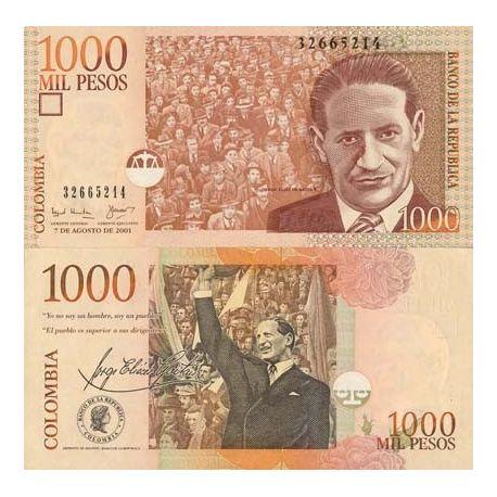 Los billetes de banco Colombia Pick número 450 - 1000 Peso 2001 - La Maison  du Collectionneur