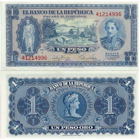 Billets de collection Billets de banque Colombie Pk N° 398 - 1 Pesos Billets de Colombie 8,00 €
