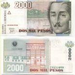 Billet de banque Colombie Pk N° 451 - 2000 Pesos