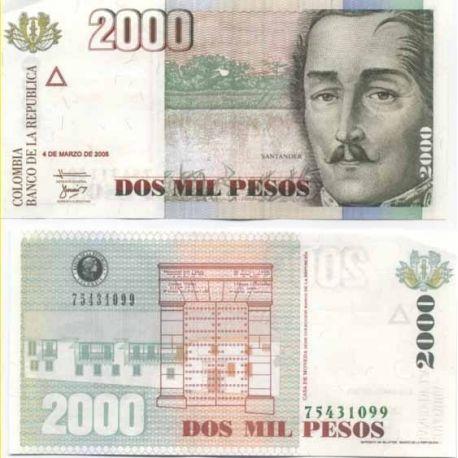 Colombia - Pk # 451 - ticket 2000 Pesos