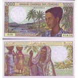Banknoten Komoren Pick Nummer 11 - 1000 FRANC 1984