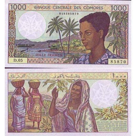 Comoros - Pk No. 11 - 1000 Franks ticket