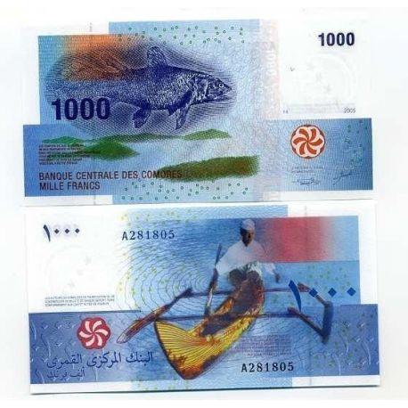 Billets de banque Comores Pk N° 16 - 1000 Francs
