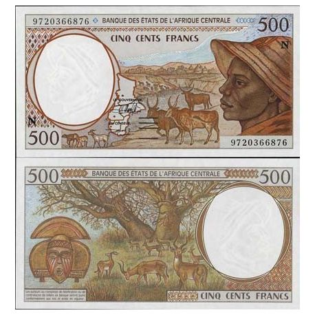 Equatorial Guinea in Central Africa - Pk # 501 - Ticket 500 Francs