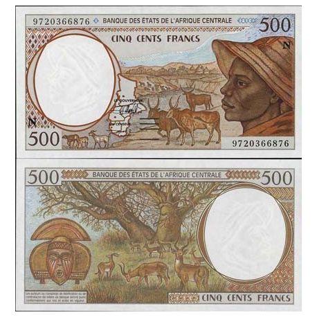 Billets de collection Billets de banque Afrique Centrale Guinee Equatoriale Pk N° 501 - 500 Francs Billets de Guinée Français...