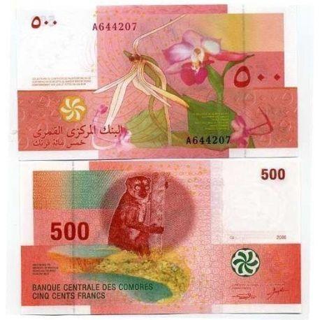 COMORES - Pk N° 15 - Billet de 500 Francs