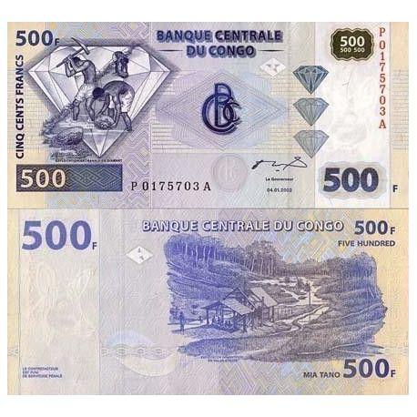 Billets de collection Billet de banque Congo Pk N° 96 - 500 Francs Billets du Congo 15,00 €