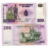 Beautiful banknote Congo Pick number 95 - 200 FRANC 2000