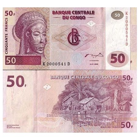 Billet de collection Congo Pk N° 91 - 50 Francs