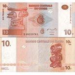 Precioso de billetes Congo Pick número 93 - 10 FRANC 2003