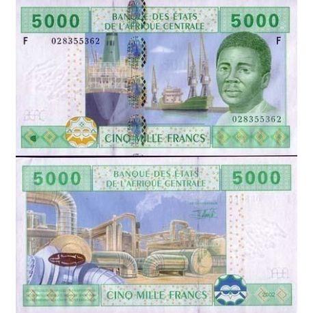 Billets de collection Billet de banque Afrique Centrale Guinee Equatoriale Pk N° 509 - 5000 Francs Billets de Guinée Français...