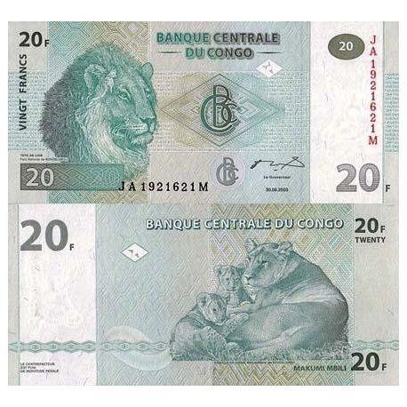 Congo - Pk N° 94 - Billet de 20 Francs