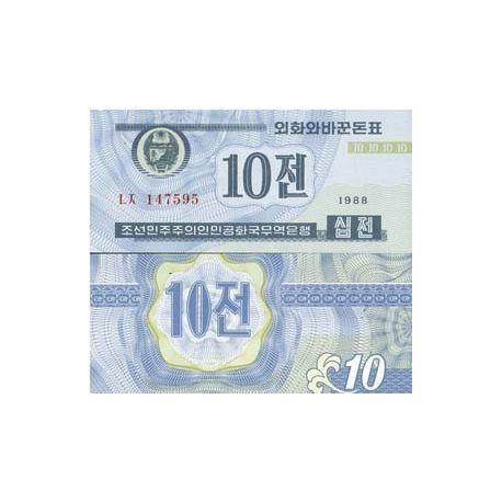 COREE NORD - Pk N° 25 - Billet de 10 Won