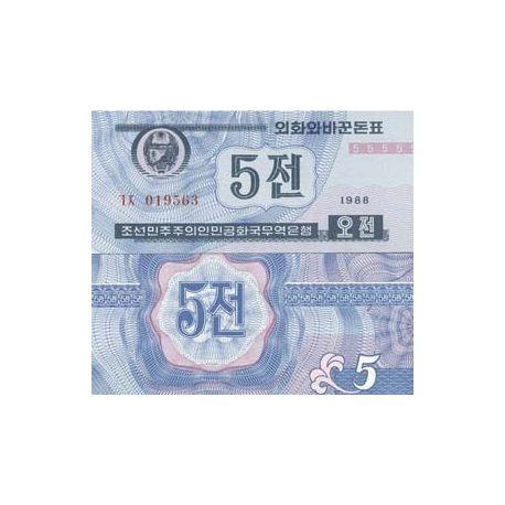 COREE NORD - Pk N° 24 - Billet de 5 Won