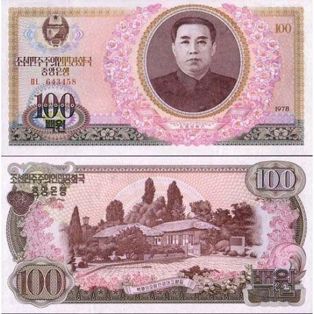 Coree Nord - Pk N° 22 - Billet de 100 Won