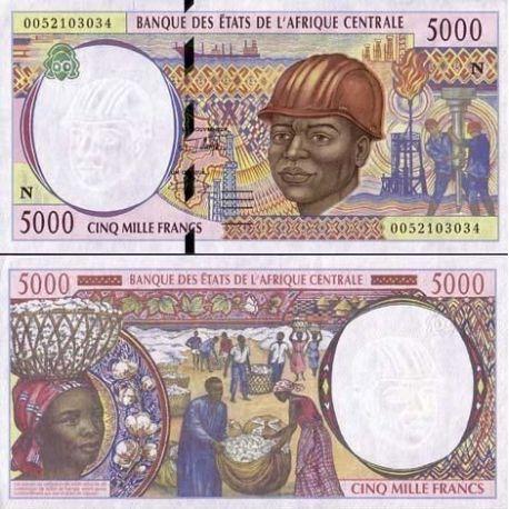 Afrika zentrale Guinee Equatoriale - Pk Nr. 504-5000 Franken banknote