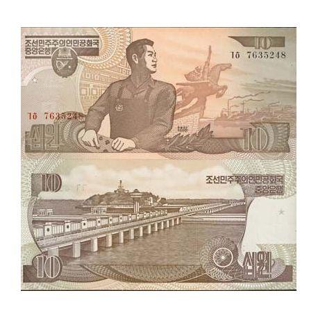 Coree Nord - Pk N° 41 - Billet de 10 Won