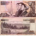 Banknoten Sammlung Nordkorea Pick Nummer 42 - 50 Won 1992