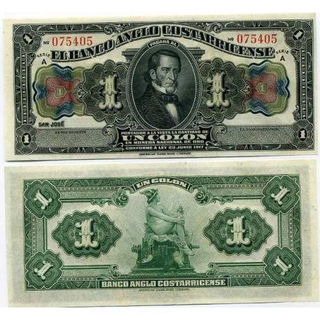 Billets de banque Costa Rica Pk N° 121 - 1 Colones