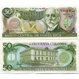Collection of Banknote Costa Rica Pick number 257 - 50 Colon 1990