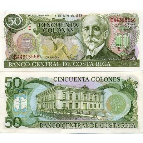 Billets banque Costa Rica Pk N° 257 - 50 Colones