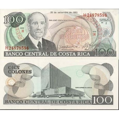 Billets collection Costa Rica Pk N° 261 - 100 Colones