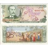 Collection of Banknote Costa Rica Pick number 236 - 5 Colon 1968