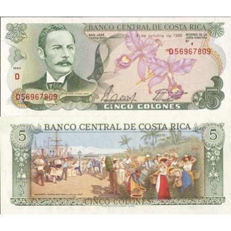 Costa Rica - Pk N° 236 - Billet de 5 Colones