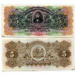 Billet de banque Costa Rica Pk N° 122 - 5 Colones