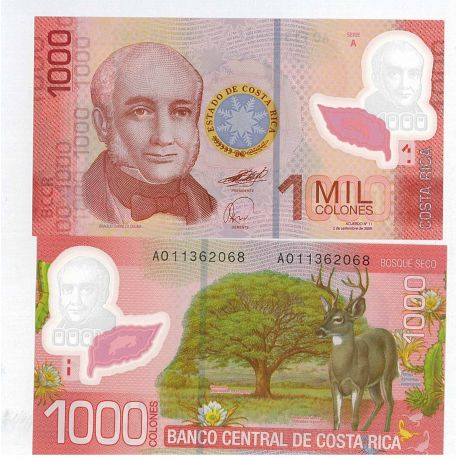 Billet de collection Costa Rica Pk N° 274 - 1000 Colones