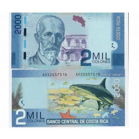 Billets de banque Costa Rica Pk N° 275 - 2000 Colones