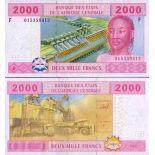 Collezione di banconote Guinea Francese Pick numero 508 - 2000 FRANC 2002