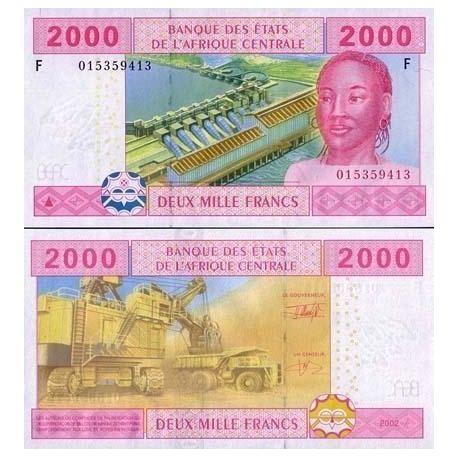 Billets de collection Billets de banque Afrique Centrale Guinee Equatoriale Pk N° 508 - 2000 Francs Billets de Guinée Françai...